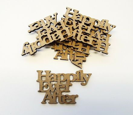 wooden craft WEDDING WISHES shapes, laser cut 3mm mdf embellishments